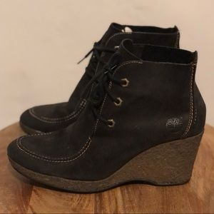 NWOT Timberland Leather Boots with Heel Size 8.5